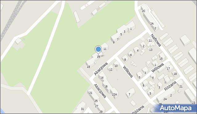 Sosnowiec, Akacjowa, 15, mapa Sosnowca