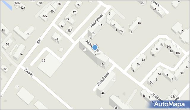 Tczew, Akacjowa, 2, mapa Tczew