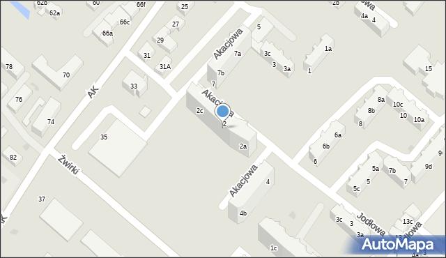 Tczew, Akacjowa, 2b, mapa Tczew