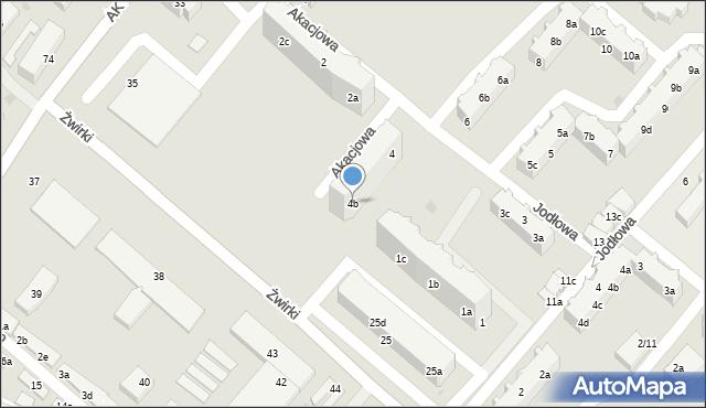 Tczew, Akacjowa, 4b, mapa Tczew