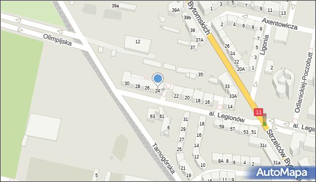 Bytom, Aleja Legionów, 24, mapa Bytomia