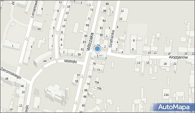 Bytom, Alojzjanów, 1, mapa Bytomia