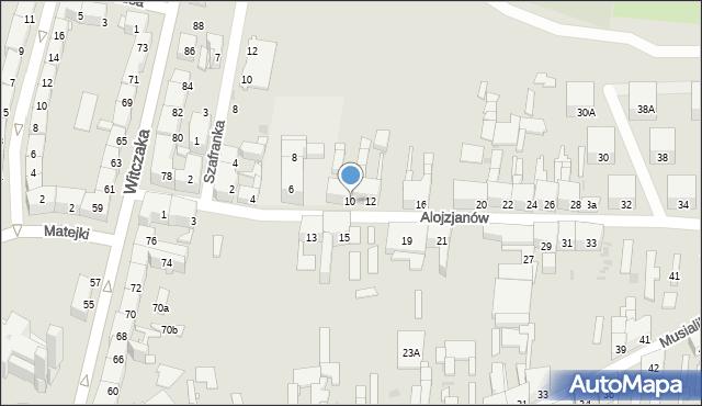 Bytom, Alojzjanów, 10, mapa Bytomia