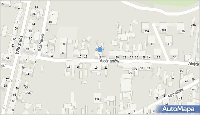 Bytom, Alojzjanów, 16, mapa Bytomia