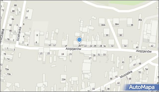 Bytom, Alojzjanów, 20, mapa Bytomia
