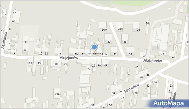 Bytom, Alojzjanów, 26, mapa Bytomia