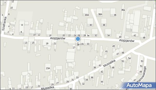 Bytom, Alojzjanów, 29, mapa Bytomia
