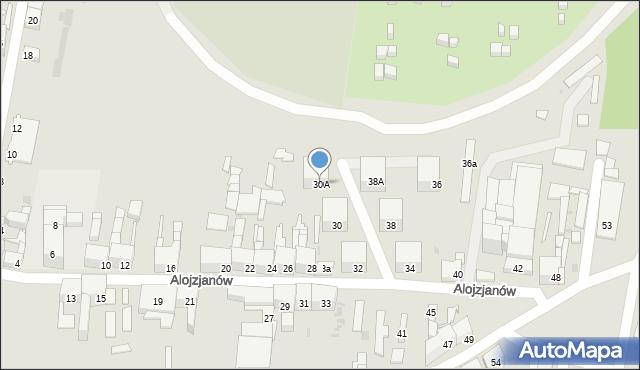Bytom, Alojzjanów, 30A, mapa Bytomia