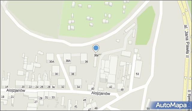Bytom, Alojzjanów, 36a, mapa Bytomia