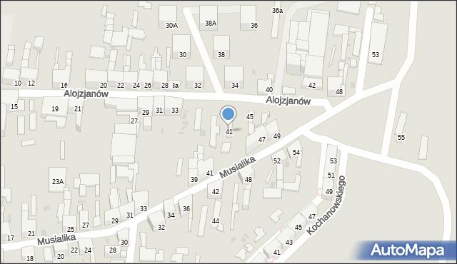 Bytom, Alojzjanów, 41, mapa Bytomia
