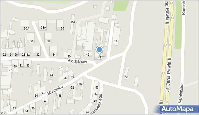 Bytom, Alojzjanów, 48, mapa Bytomia