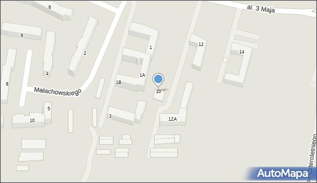 Chełm, Aleja 3 Maja, 10, mapa Chełma