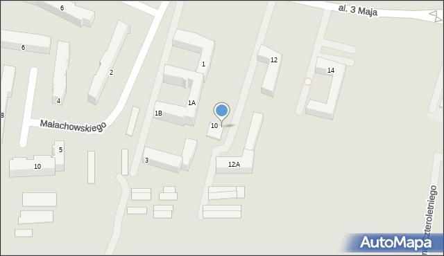 Chełm, Aleja 3 Maja, 10A, mapa Chełma