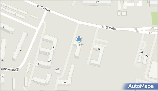 Chełm, Aleja 3 Maja, 12, mapa Chełma