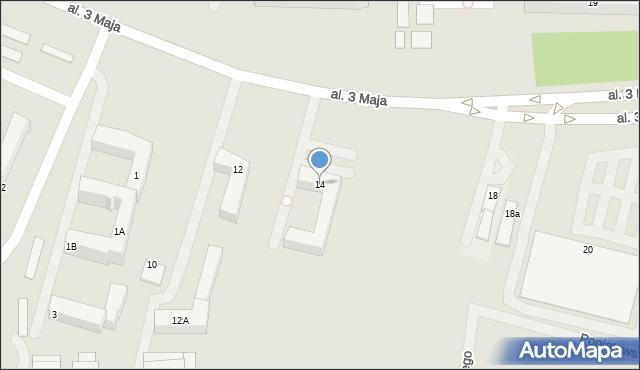 Chełm, Aleja 3 Maja, 14, mapa Chełma