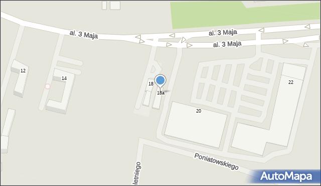 Chełm, Aleja 3 Maja, 18a, mapa Chełma