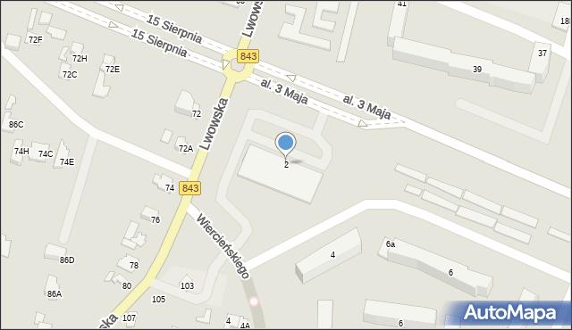 Chełm, Aleja 3 Maja, 2, mapa Chełma