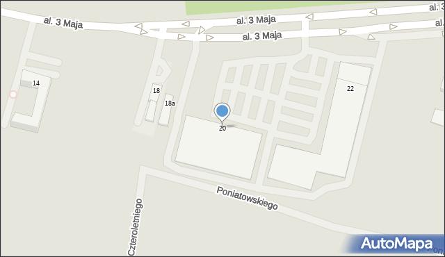 Chełm, Aleja 3 Maja, 20, mapa Chełma