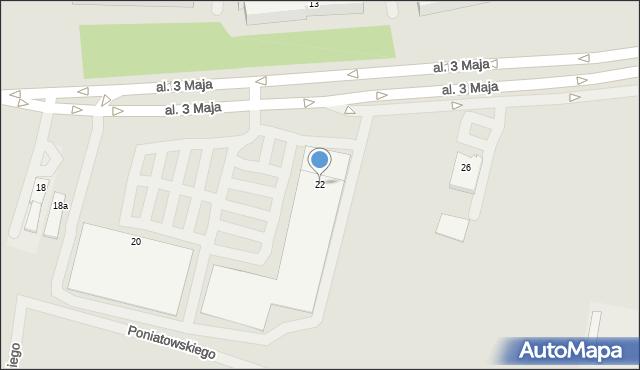 Chełm, Aleja 3 Maja, 22, mapa Chełma