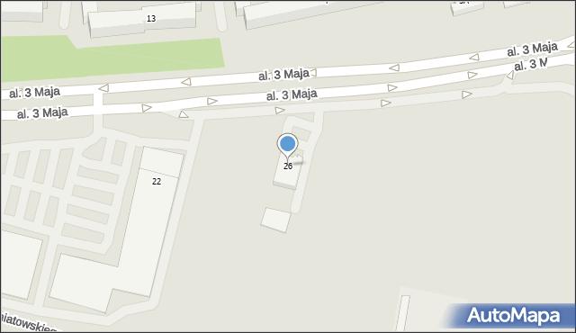 Chełm, Aleja 3 Maja, 26, mapa Chełma