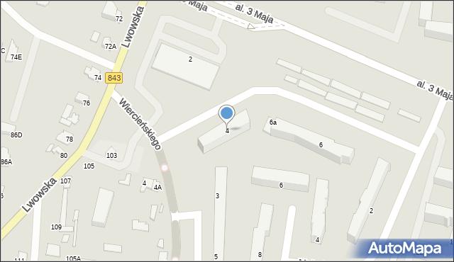 Chełm, Aleja 3 Maja, 4, mapa Chełma