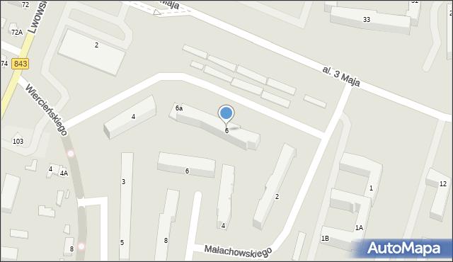Chełm, Aleja 3 Maja, 6, mapa Chełma