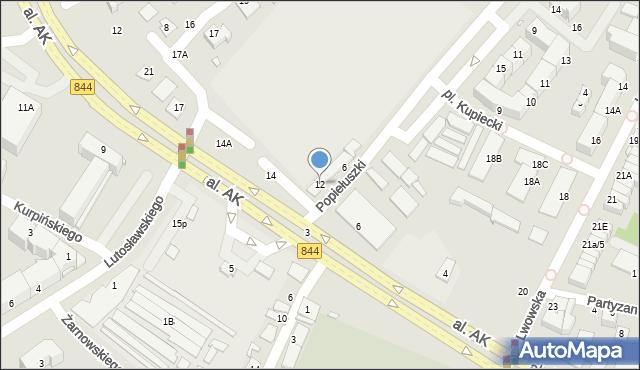 Chełm, Aleja Armii Krajowej, 12, mapa Chełma