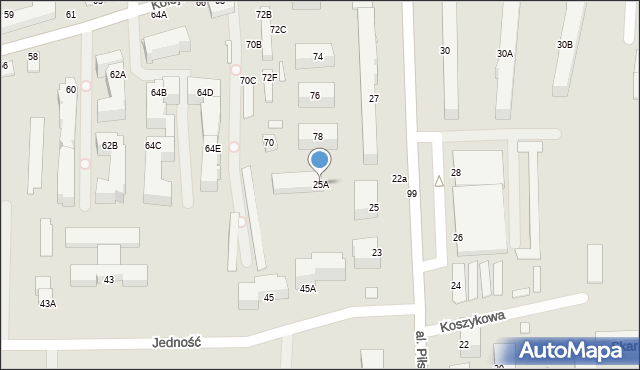 Chełm, Aleja Piłsudskiego Józefa, marsz., 25A, mapa Chełma