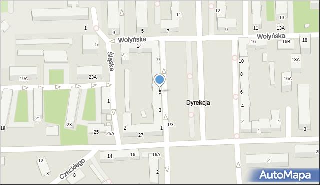 Chełm, Aleja Piłsudskiego Józefa, marsz., 5, mapa Chełma
