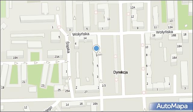 Chełm, Aleja Piłsudskiego Józefa, marsz., 7, mapa Chełma