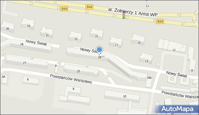 Chełm, Aleja Żołnierzy 1 Armii Wojska Polskiego, 19, mapa Chełma