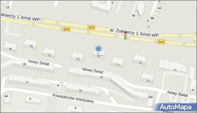 Chełm, Aleja Żołnierzy 1 Armii Wojska Polskiego, 21, mapa Chełma