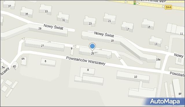 Chełm, Aleja Żołnierzy 1 Armii Wojska Polskiego, 25, mapa Chełma