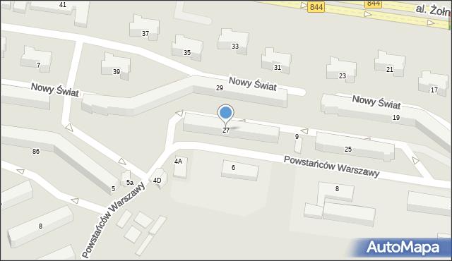 Chełm, Aleja Żołnierzy 1 Armii Wojska Polskiego, 27, mapa Chełma