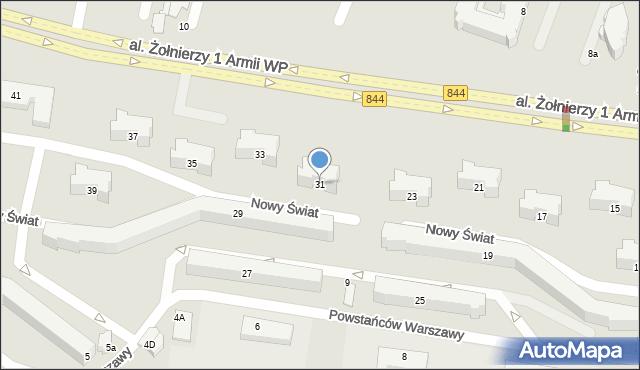 Chełm, Aleja Żołnierzy 1 Armii Wojska Polskiego, 31, mapa Chełma