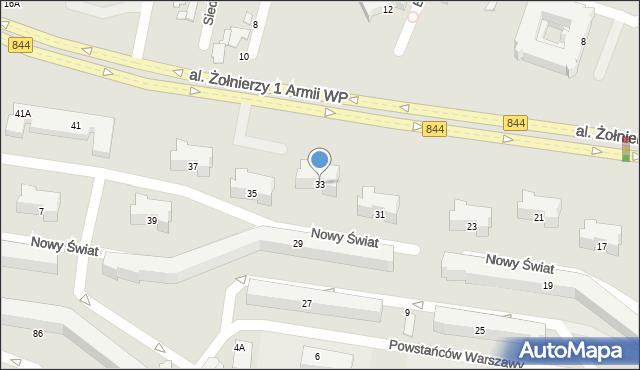 Chełm, Aleja Żołnierzy 1 Armii Wojska Polskiego, 33, mapa Chełma