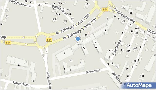 Chełm, Aleja Żołnierzy 1 Armii Wojska Polskiego, 5, mapa Chełma