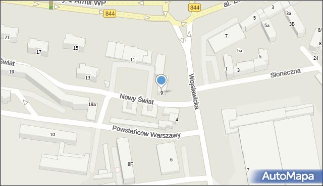 Chełm, Aleja Żołnierzy 1 Armii Wojska Polskiego, 9, mapa Chełma