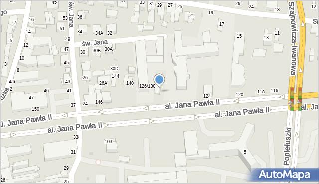 Częstochowa, Aleja Jana Pawła II, 132, mapa Częstochowy