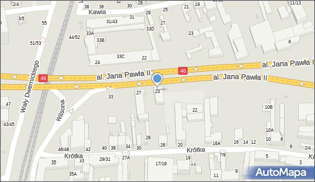 Częstochowa, Aleja Jana Pawła II, 23, mapa Częstochowy