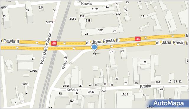 Częstochowa, Aleja Jana Pawła II, 33, mapa Częstochowy