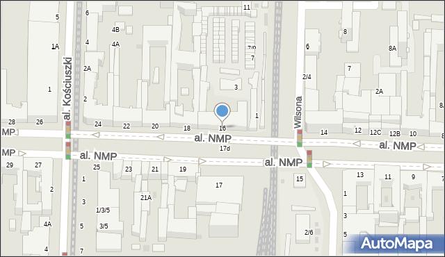 Częstochowa, Aleja Najświętszej Maryi Panny, 16, mapa Częstochowy
