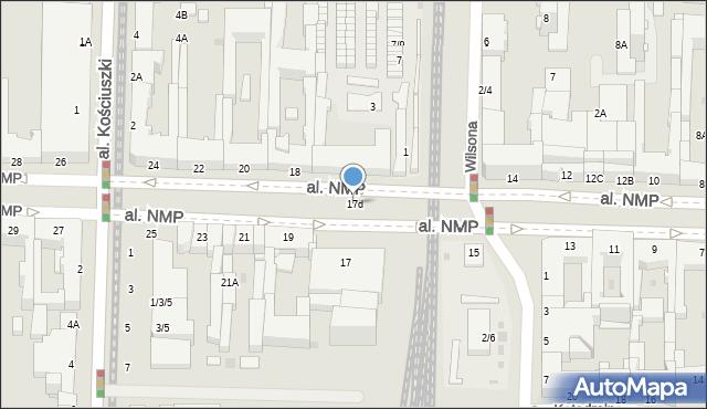 Częstochowa, Aleja Najświętszej Maryi Panny, 17d, mapa Częstochowy