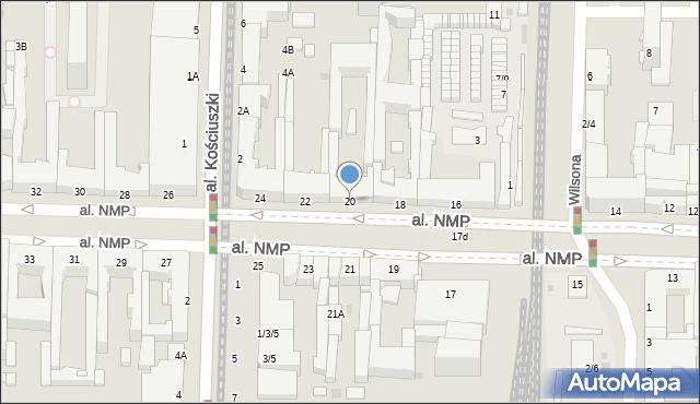 Częstochowa, Aleja Najświętszej Maryi Panny, 20, mapa Częstochowy