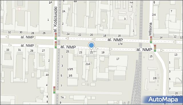 Częstochowa, Aleja Najświętszej Maryi Panny, 21, mapa Częstochowy
