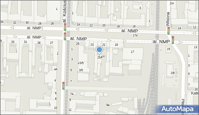 Częstochowa, Aleja Najświętszej Maryi Panny, 21A, mapa Częstochowy