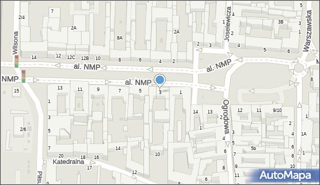 Częstochowa, Aleja Najświętszej Maryi Panny, 3, mapa Częstochowy