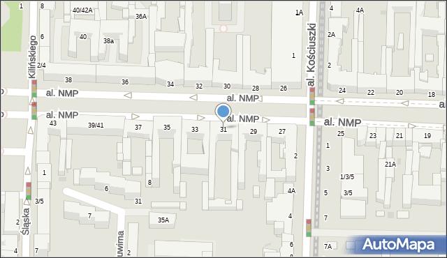 Częstochowa, Aleja Najświętszej Maryi Panny, 31, mapa Częstochowy