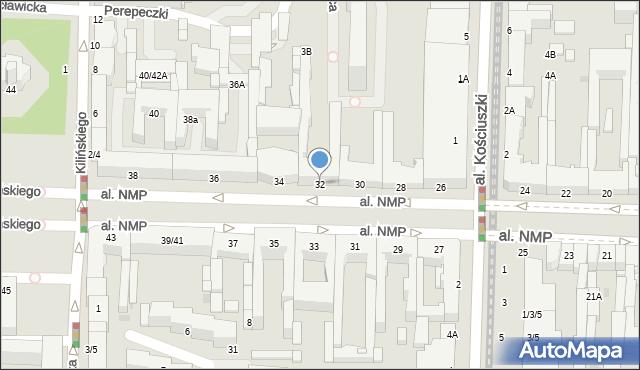 Częstochowa, Aleja Najświętszej Maryi Panny, 32, mapa Częstochowy