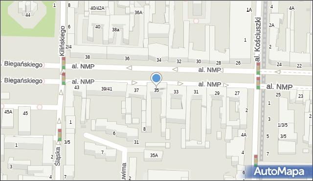 Częstochowa, Aleja Najświętszej Maryi Panny, 35, mapa Częstochowy